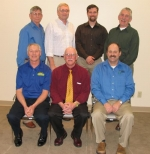The Indiana Soybean Alliance elected officers and executive committee members for 2010 at their January board of directors meeting. Pictured are (left to right, front row): Terry Vissing, Marysville, secretary; Lynn Teel, Chalmers, president; and Kevin Wi