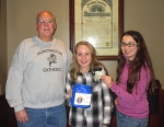 Tim Godfroy (left), co-chair of the 2016 Knights of Columbus Pitch-In, and daughters Lindsay (center) and Olivia prepare for this year's roadblock, which will be held on Saturday, Dec. 3. Donations are used to provide assistance to Huntington County residents who have a temporary financial need and nowhere else to turn.