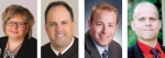 Candidates for Huntington County Circuit Court Judge are (from left) Jill Denman, Jamie Groves, Davin Smith and Justin Wall.