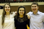 The Huntington North High School Academic Team's Math Team, comprised of (from left) Audrey Marjamaa, Alyssa Woolard and Zach Lippe, will represent HNHS in the state finals of the Academic Super Bowl competition, to be held at Purdue University on May 6. The team is currently ranked in the top seven in the state.