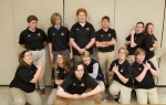 Members of the Huntington North High School Academic Super Bowl team take a moment to ham it up following their recent meet at Leo High School. Pictured are (front row from left) Morgan Stout, Grace Driscoll, Tyler Stroud, Darcy Williams, Quinton Fetrow and Parker Gibson; and (back row from left) Robert Borland, Reece Sweet, Brandon Kem, Zach Lippe, Brandon Kratz and Audrey Marjamaa.