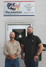 Greg Dill (left) and Nick Christman run The American Steel & Fab Co. in Huntington. The business is opening its doors to the general public this week.
