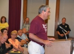Andy Zay, president of the Huntington Township Advisory Board and a resident of the area targeted for annexation into Huntington, expresses his displeasure with the attempt during a public hearing on Tuesday, June 3, before the common council.