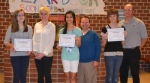 The LaFontaine Arts Council's Artists of the Month for March, all from Crestview Middle School, and the teachers who nominated them.