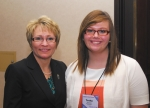 Tosha Davis (right), who was named Youth of the Year for 2014 by the Parkview Boys & Girls Club in Huntington, poses with Indiana Lt. Gov. Sue Ellspermann during the regional Youth of the Year competition in Indianapolis.