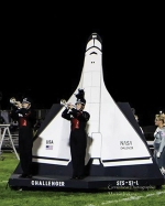 """Members of the Huntington North High School Marching Vikes perform the band's 2016 competition show, """"Challenger."""" The community is invited to a free performance of the show on Friday, Oct. 21, at Kriegbaum Field at 6 p.m."""