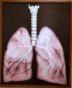 """""""The Corruption of Life,"""" a painting by Huntington University student Janna Kurzen, took Best of Show in the Juried Student Art Exhibit at HU. The exhibit runs through April 9"""