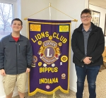 Brant Young (left) and Graham Scher are the recipients of scholarships from the Bippus Lions Club. They each received $250 from the club.