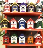 The Professional Piddlers Association has constructed 15 birdhouses that represent the former township and city high schools open in Huntington County prior to Huntington North High School. These birdhouses are for sale with the proceeds to go for more obstacles at the Lake Clare Fitness Park.