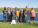 Members of Boy Scouts of America Troop 128G and 128B participate in a clean-up project, taking on a challenge given by Senior Patrol Leader Anna Clampitt. The Markle troop rechartered in November 2019 and was the first in Huntington County to offer Boy Scouts of America opportunity to young women.