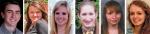 Pictured from left, Elliott Forth, Aleesha Gamble, Abigail Hoffman, Rachel Platt, Kylie Tester and Mariah Zumbrun.