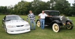 Austin Smith (left) and his 1996 Ford Mustang and Charlie Drummond and his 1929 Model A Roadster are two of the entries in the Mt. Etna Masonic Lodge Car Show. The event will be held this Saturday, Aug. 7,  at the Mt. Etna Lodge.