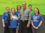 Keystone Club members from the Parkview Boys & Girls Club of Huntington County accept a contribution made recently by the Chief of the Flint Springs Tribe Chief's Legacy Fund. Celebrating the occasion are (front row from left) Keystone member Kristina Parker, 2018 Chief Jeremy Nix and Keystone member Gabby Minick; and (back row from left) Keystone members Jozie Ivey, Caden Searles and Adin Ivey.