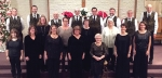 "The Evangelical Community Christmas Choir will present ""We're Glad You Came"" on Dec. 12, 13 and 15. Members of the choir are (first row from left) Melina Ashley, Patty Jacobs, Linda Hall, Vickie Kiefer, Phyllis Pieper, Nicole Johnson and Courtney Byerly; (second row from left) Myra Sturm, Nondus Christman, Norma Fisher and Susan Clark; and (back row from left) Dave Kaylor, Ben Hoffman, Gerald Moreland, Pat Thompson, Matt Stephenson, Adam Drummond, Mark Kiefer and Mark Swing. Not pictured are Marti Lundy and Brittney Stephan."
