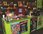 Jason McIlrath is the owner of Corn Coast Comics, a new shop in downtown Huntington specializing in comic books and a variety of other geek items. The shop is located at 23 E. Market St.