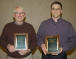 Phil Karst (left) and Pat Karst received the Conservation Farmer Award Thursday, Feb. 18, at the Huntington County Soil and Water Conservation District annual meeting.