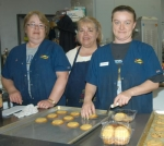 Deb Haney, Cindy Miller and Tiffany Haney (from left) will be baking cookies at the Stop-N-Shop to raise money to fight childhood cancer.