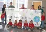 Kids Kampus children celebrated Earth Day, Thursday, April 22, by donating used crayons to Parkview Huntington Hospital.