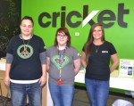 Holly Smith (left) is the manager of Huntington's new Cricket Wireless store. Rounding out the crew are Abby Crider (center) and Selina Olivares.