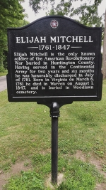 A marker denotes the final resting place of Elijah Mitchell in Warren's Woodlawn Cemetery. Mitchell's grave will be rededicated in a ceremony held by the DAR on Sept. 12.