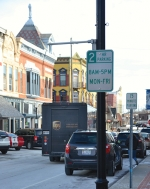 Pictured are public parking spaces along North Jefferson Street in downtown Huntington. According to the City of Huntington, the amount of public parking spots in the downtown area has grown by 20 since 2016. At present, there are 49 public parking spaces in city-owned lots and over 200 spots on downtown streets.