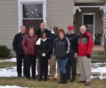 A gathering at Ruby Jones' home on East State Street, in Huntington, on Wednesday, Jan. 15, celebrated the beginning of a home rehabilitation program in Huntington's Drovertown neighborhood.