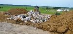 Trash is compacted into an area at the Huntington City landfill in a recent photo. The landfill, one of only two municipal landfills left in the state of Indiana, is being permanently closed.