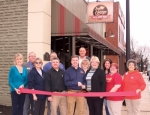 The Huntington County Chamber of Commerce held a ribbon-cutting ceremony to recognize Terry Miller II as the new owner of East of Chicago Pizza, in Warren, on Thursday, Feb. 7. Pictured are (front row from left) JoDeane Knowles, chamber ambassador; Cheryl DeWeese, Warren Chamber of Commerce; Terry Miller, chamber ambassador and Miller's father; Terry Miller II; Carrie Miller, chamber ambassador and Miller's stepmother; Cody Worch, assistant manager, East of Chicago Pizza; and Melinda Daniels, Warren Chamber; and (back row from left) Randy Harris, chamber board member; Jeremy Rufener and Ron Stewart, both Warren Chamber; Kerry Beaver, chamber board member; and Gina Canady, Warren Chamber.