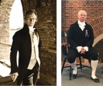Ian Rose, portraying Alexander Hamilton (at left) and Kyle Jenks, portraying James Madison, will engage students throughout Huntington County on Sept. 16 and 17, as part of Constitution Day ceremonies.
