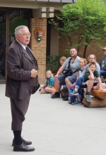 "Gib Young, of Huntington, portrays President Theodore Roosevelt in a previous lecture. Young will present the program ""Indiana at Gettysburg"" to the Huntington County Historical Society on May 15."