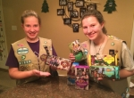 Cadette Girl Scout Laura Hartmus (left) and her sister, Senior Girl Scout Jessica Hartmus, both of Roanoke, are among the local Girl Scouts who will be out selling cookies starting Friday, Jan. 13. The annual cookie sale continues through March 15.