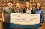 Alena Miller (third from left) is this year's Lucas Grube Memorial Scholarship winner. Grube died in June of 2016, and this scholarship is based on traits that Lucas had as a student and son. Started by the Crestview Middle School Student Council, the scholarship is awarded to a former Crestview student who is a senior at Huntington North High School. Celebrating the occasion are (from left) Matthew Grube, Angie Grube, Miller and Abby Grube.