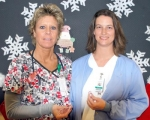 Mary Wilson, R.N., (left) and Conni Harris-Shoemaker, R.N., nurses at Parkview Huntington, are the first two recipients of the hospital Foundation's Guardian Angel award.
