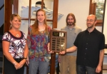 Huntington Alert presented its David A. Schenkel Memorial Award to the Andrews-Dallas Township Public Library for its historically sensitive building addition.