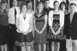 Recipients of Huntington County Help scholarships include (from left) Hannah Downey, Jonathan O'Donnell, Stacy Jena, Adam Roth, Alexandria Green, Jacob Hurlburt, Malia Meyer, Jill Slagel and Rick Scheer.