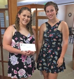 Baylee Fuller (left), a Wayne High School graduate, and Crosley Stanley, a Huntington North High School graduate, are the recipients of the United Methodist Memorial Home scholarships from the Souder Memorial Education Fund.