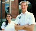 Michelle Blevins (left), of Fort Wayne, and Ben Borton, of Somerset, MI, are both seniors and nursing majors at Huntington University. The school will host a week-long camp in the summer of 2015 for high school students to explore the nursing profession and the nursing program at HU.