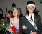 Amos Rawley (right), a Bible and religion major from Greencastle, PA, was named king, and Katie Aeschliman, a public relations major from Stryker, OH, was crowned queen when the Huntington University student body crowned its homecoming royalty Oct. 2.