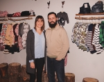 Ashley Gerdes (left) and husband Chad Gerdes are the owners of Happy Camper, a new outdoors-themed shop at 411 N. Jefferson St., in downtown Huntington, that offers children's, women's and men's clothing, plus other items, such as games.