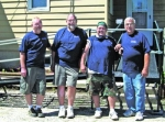 Pictured is the crew from Helping Hands, a volunteer group through the First Church of the Nazarene in Huntington, who assisted Pathfinder's Amramp in the installation of the ramp at a house in Huntington on Saturday morning, June 19.