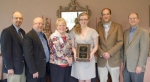 Jandra Sutton (fourth from left) received the S. G. Whittle Johnston Memorial Award in History at Huntington University.
