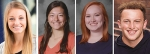 Pictured (from left) Amara Eckert, Katie Melcher, Olivia Meyer and Andrew Nash.