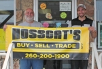 Ken Allen (left) and Zack Allen are the owner and manager, respectively, of Hosscat's Buy-Sell-Trade, in Huntington.