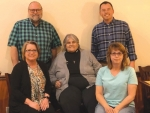 The newly-elected officers of the Huntington County Humane Society are (front row from left) Tina Feller, secretary; Pat Merckx, outgoing president; and Wendy Sorenson, vice president; and (back row from left) Rod Feller, treasurer; and Andy Norman, president.