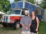 Jason (left) and Lauren Winterfeld are now operating JB's Cuisine Machine, which will make its first major public appearance during the Huntington County 4-H Fair.