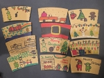 Featured are a few of the decorative cup sleeves that have been designed by local elementary school students. The sleeves will be available for hot drinks from JJ Java from Monday, Nov. 30 to Sunday, Dec. 6, or as supplies last.