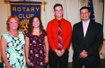 Mia Richison (second from left) and Trey Williams (third from left) are the Huntington Rotary Club's Junior Rotarians for January. With them are Rotary Club sponsors Kathy Branham (left) and Chad Daugherty.