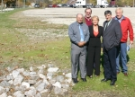 County and city officials worked together to get a new swale constructed nar Joe and Briant streets to help alleviate flooding problems in the area.
