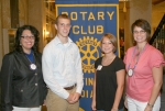 The Huntington Rotary Club announced the Junior Rotarians for the month of September as Mitch Vezeau and Ashley Chaney (second, from right). Vezeau's Rotarian sponsor is Rose Meldrum (left) and Lori Mickley (right) is Chaney's sponsor.