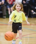 Lillian Winter drives up the court during a December 2018 KIM League game at the Parkview Huntington Family YMCA. Registration is open now until Oct. 13.